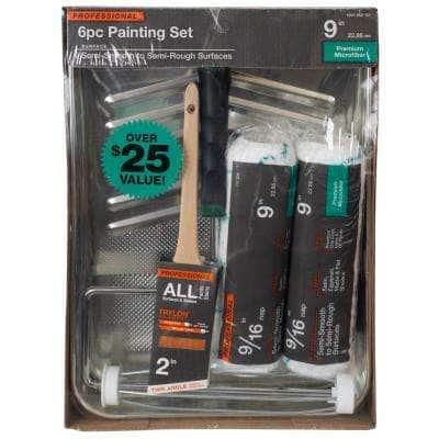 6-Piece Microfiber Paint Tray Kit
