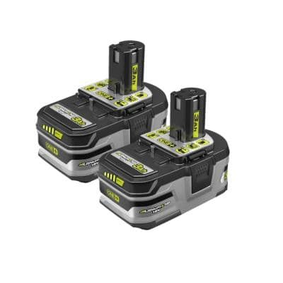 ONE+ 18V Lithium-Ion LITHIUM+ HP 3.0 Ah High Capacity Battery (2-Pack)