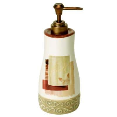 Inspire Freestanding Lotion Dispenser in Parchment