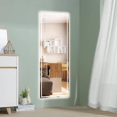 19.68 in. x 59 in. Rectangular Frameless Glass Decorative Mirror