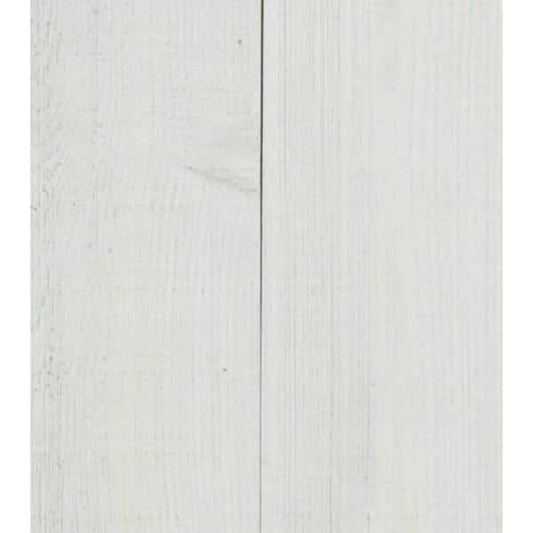 American Pacific 3/8 in. x 5-1/2 in. x 47-1/2 in. Coastal Ivory Planking  (2 Boxes per Carton) - 29 Sq. Ft. | The Home Depot