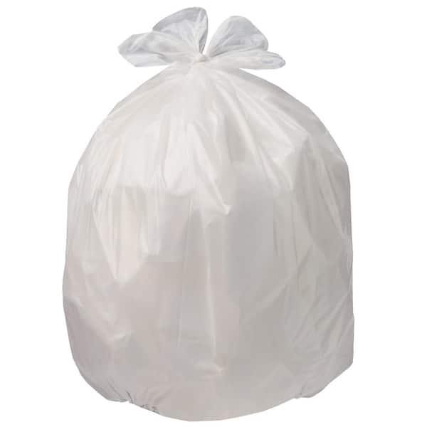 Hdx 13 Gallon White Flap Tie Kitchen Trash Bags 100 Count Hdx 959009 The Home Depot