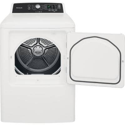 6.7 cu. ft. White Free Standing Electric Dryer