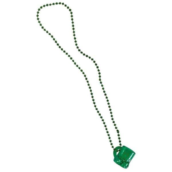 Amscan Green Plastic Beer Mug St Patrick S Day Bead Necklaces 9 Pack 352010 The Home Depot