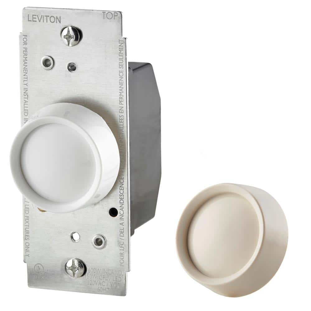 New Ace Dimmer 3-way Push On//off 600W Almond White Light Control 3253309.