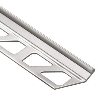 Finec Stainless Steel 1/2 in. x 8 ft. 2-1/2 in. Metal Tile Edging Trim