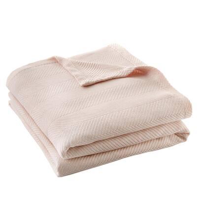 Cotton TENCEL Blend Full/Queen Blanket in Cherry Blossom