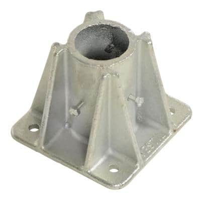 5x5x4 in. Cast Steel Single Socket Safety Railing Base