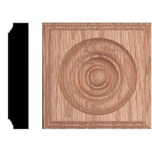 4-1/2 in. x 4-1/2 in. x 1-1/8 in. Oak Rosette Moulding