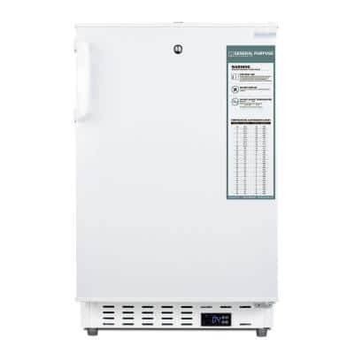 3.32 cu. ft. Healthcare Undercounter Refrigerator without Freezer in White, ADA Compliant