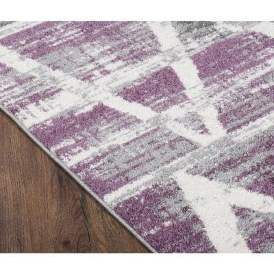 Oakleigh Purple 2 ft. x 3 ft. Scatter Area Rug