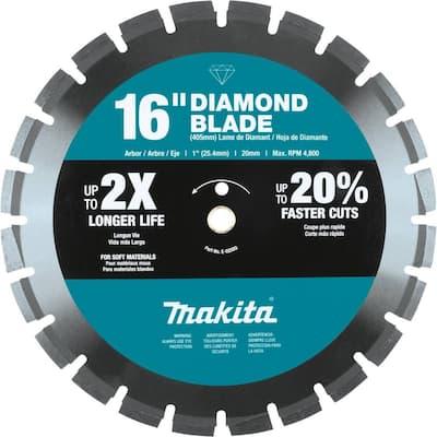 16 in. Diamond Blade Segmented, Soft