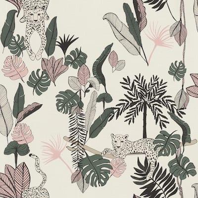 Tadoba Pink Jaguar Grove Wallpaper