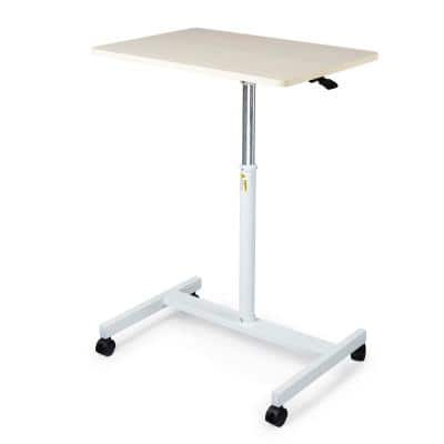White Ergonomic Design Movable Laptop Desk with Pneumatic Height Adjustable Sit