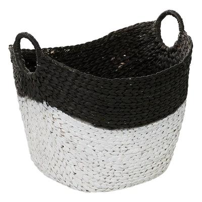 Black Sea Grass Contemporary Storage Basket 19 in. x 22 in. x 17 in.