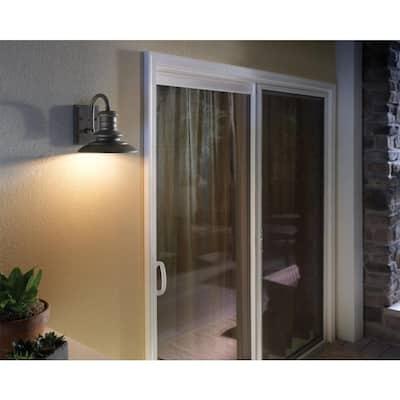 Redding Station 1-Light Restoration Bronze Outdoor 12.5 in. Wall Lantern Sconce