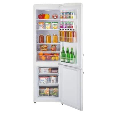 10 cu. ft. 275l Retro Bottom Mount Solar DC Refrigerator Danfoss/Secop Compressor in White