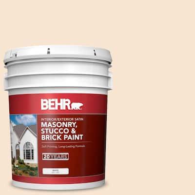 5 gal. #OR-W03 Mannequin Cream Satin Interior/Exterior Masonry, Stucco and Brick Paint