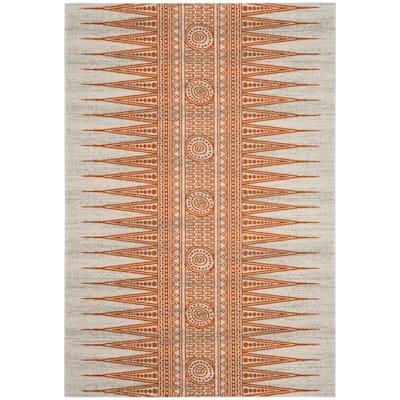 Evoke Ivory/Orange 4 ft. x 6 ft. Area Rug