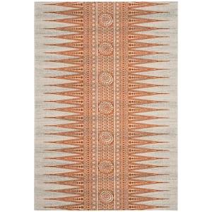 Evoke Ivory/Orange 5 ft. x 8 ft. Area Rug