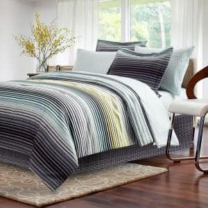 Strata 8-Piece Charcoal Queen Comforter Set
