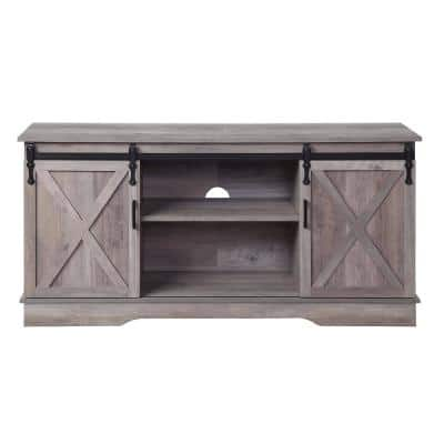 Bennet 16 in. D Gray TV Stand with 6-Shelves Fits TV's up to 72 in.