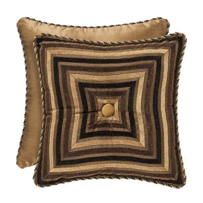 Reilly 18 in. Black Square Standard Pillow