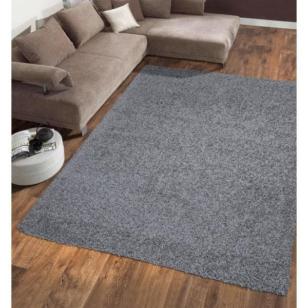 Sweet Home Stores Cozy Shag Collection Grey 8 Ft X 10 Ft Indoor Area Rug Cozy2763 8x10 The Home Depot