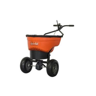 130 lbs. Capacity Push Salt Spreader with Stainless Steel Axle