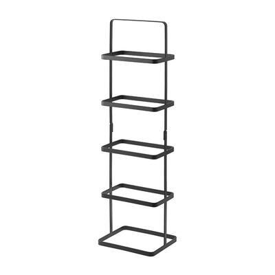 Tower 5-Pair Black Tall Steel Shoe Rack