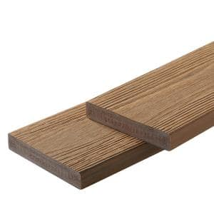 Apex 1 in. x 6 in. x 8 ft. Himalayan Cedar Brown PVC Square Deck Boards (2-Pack)