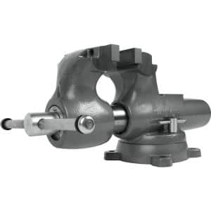 Machinist 6 in. Jaw Round Channel Vise with Swivel Base