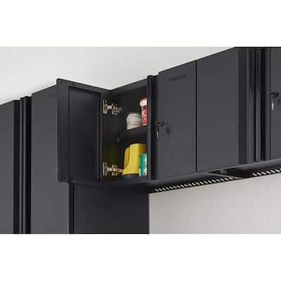 Regular Duty Welded 24-Gauge Steel Wall Mounted Garage Cabinet in Black (24 in. W x 18 in. H x 12 in. D)