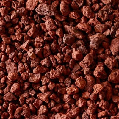 0.5 cu. ft. Bagged Decorative Stone Red Lava Rock