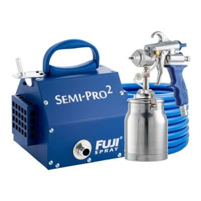 Semi-PRO 2 - M-Model HVLP Paint Sprayer Gun with Bottom Feed 1 qt. Cup and 1.3 mm Air Cap Set HVLP Paint Sprayer System