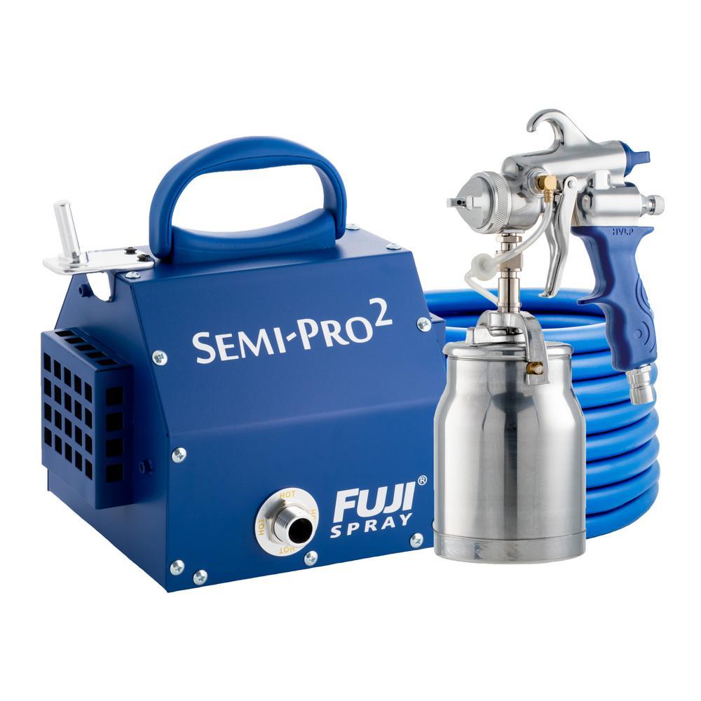 Semi-PRO 2 - M-Model Spray Gun with Bottom Feed 1 qt. Cup 1.3 mm Air Cap Set HVLP Spray System