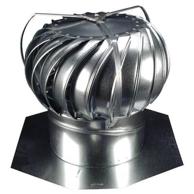 12 in. Mill Finish Galvanized Steel Externally Braced Whirlybird Wind Turbine