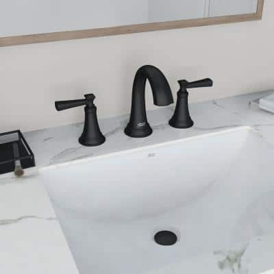 Rumson 8 in. Widespread 2-Handle Bathroom Faucet in Matte Black