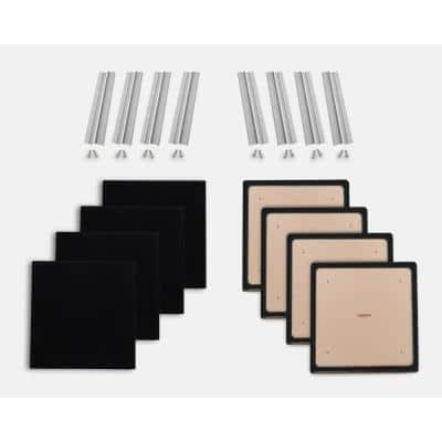 24 in. W x 24 in. L x 1 in. H Black Fabric Absorption Plus Diffusion Panels Small Panel Booster Kit (Pack of 8)