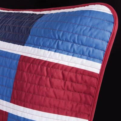 Nicholas Patchwork Coverlet Quilt Set