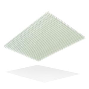 36 in. x 72 in. x 1/4 in. Clear Multiwall Polycarbonate Sheet