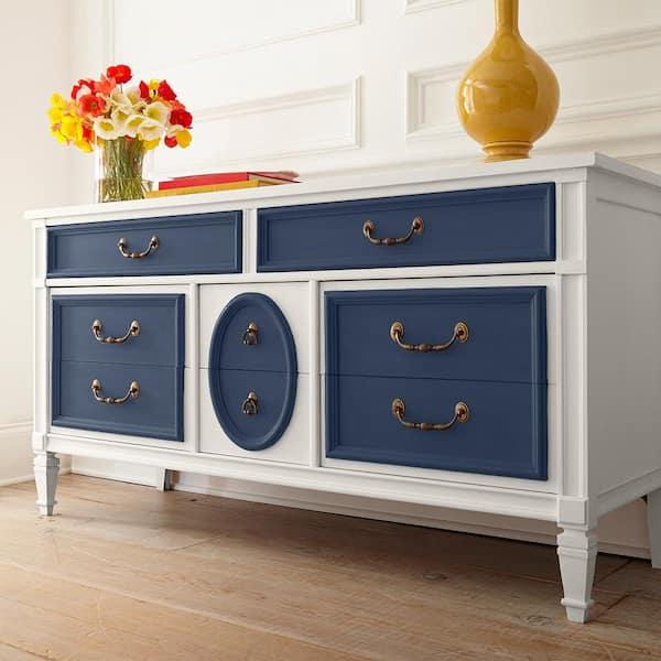Behr 1 Qt S530 7 Dark Navy Interior, Dark Grey Chalk Paint Furniture