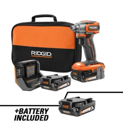 18V SubCompact Brushless Cordless Impact Driver Kit with 2.0 Ah Battery, Charger, and Extra 2.0 Ah Battery