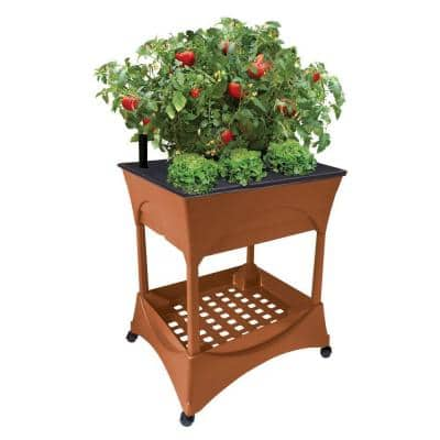 Easy Pickers Plastic Raised Garden Bed Garden Grow Box with Stand