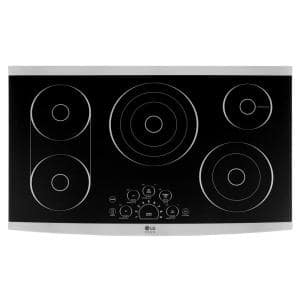 36 in. Radiant Electric Cooktop in Stainless Steel with 5 Elements and SmoothTouch Controls