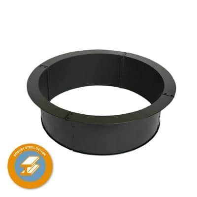 Heavy-Duty 36 in. x 10 in. Round Steel Wood Fire Pit Ring with 2.7 mm Steel