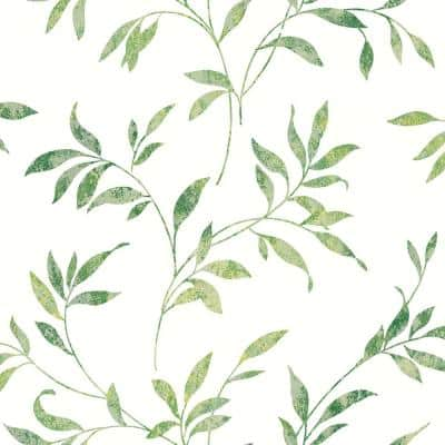 Sanibel Green Trail Paper Strippable Roll (Covers 56.4 sq. ft.)