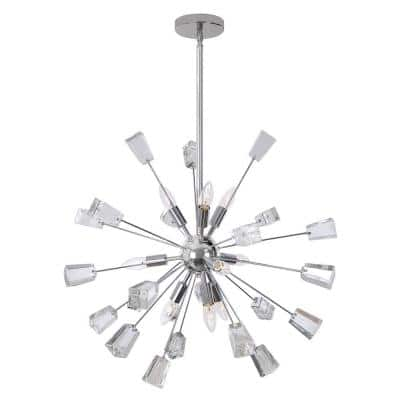 Kimberly 9-Light Crystal and Chrome Sputnik Chandelier