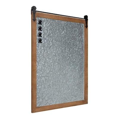 Cates Rustic Brown Magnetic Memo Board