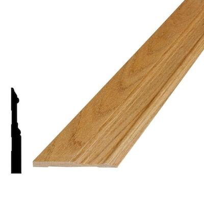 5/8 in. x 5-1/4 in. x 96 in. Oak Wood Baseboard Moulding